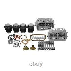 VW 1600 SINGLE PORT TOP END REBUILD KIT, 85.5mm Pistons WITH STOCK HEADS